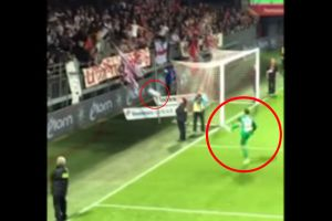 Portero francés agredió a los hinchas con un balonazo ¡No creerás lo que pasó después!