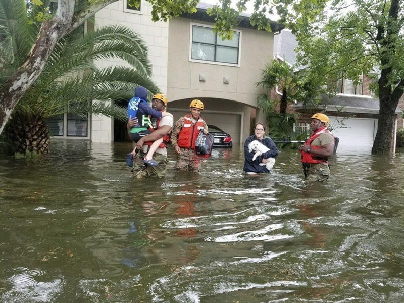 Videos muestran la destrucción que deja Harvey en Texas