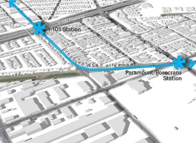 #BuenosDíasLA: Línea de tren ligero en Paramount/South Gate