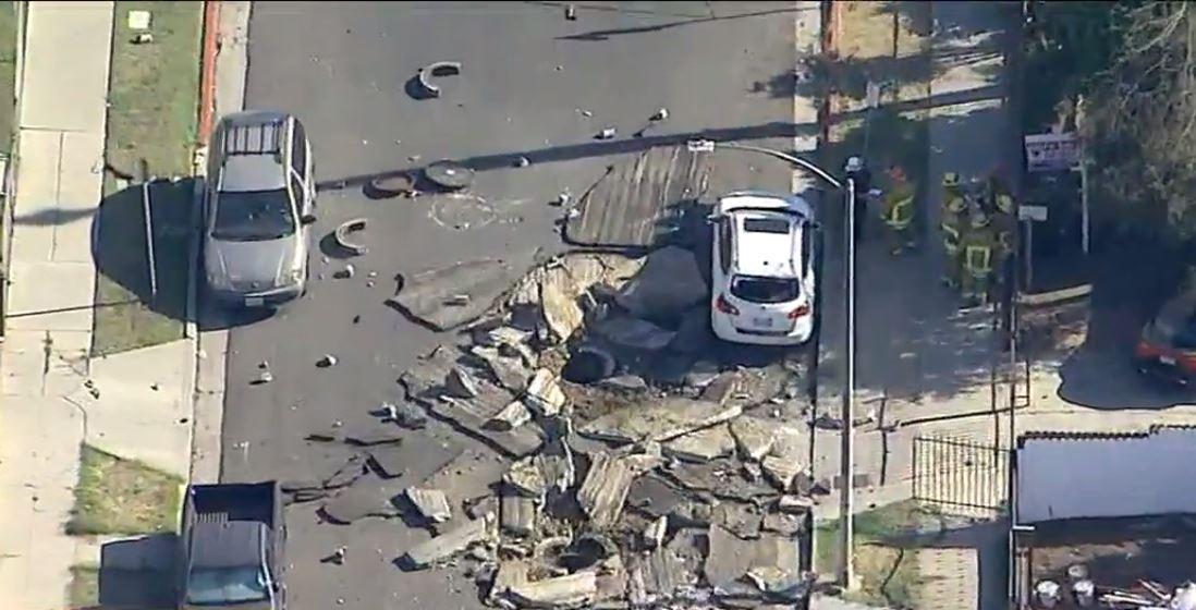 La explosión causó graves destrozos materiales en Hyde Park