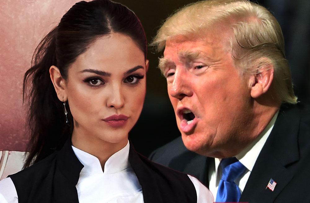 Eiza Gonzalez y Donald Trump
