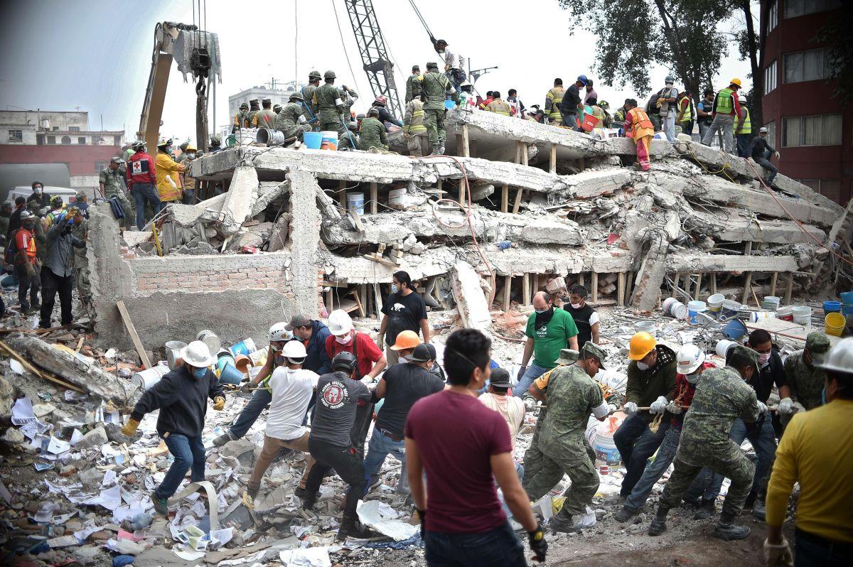 Fuerte terremoto que azotó a Mexico