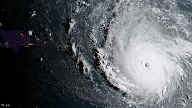 Irma hasta ahora es el segundo huracán más fuerte de la historia/ NOAA
