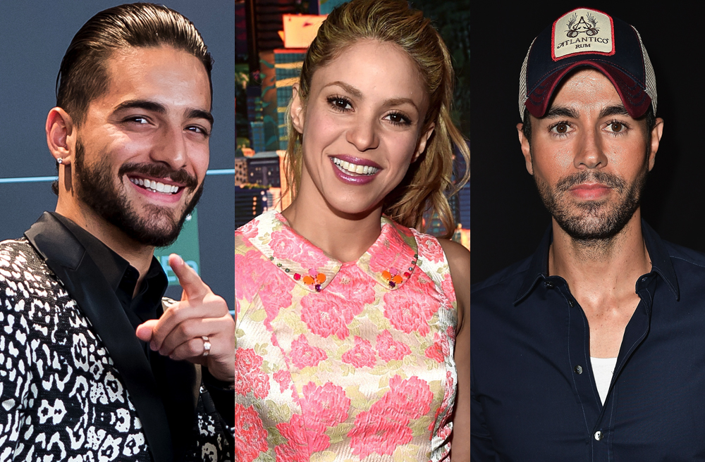 Maluma, Shakira y Enrique Iglesias fueron algunos de los más nominados
