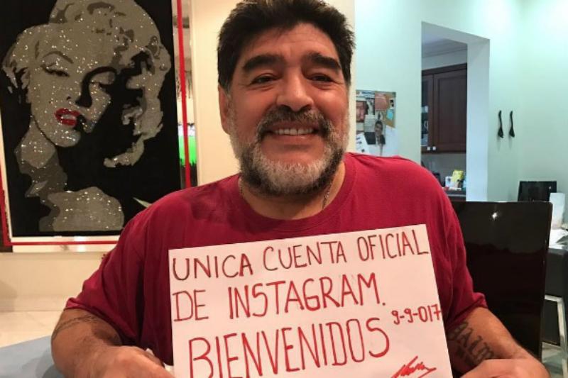 Maradona abrió su cuenta de Instagram y de inmediato creó polémica