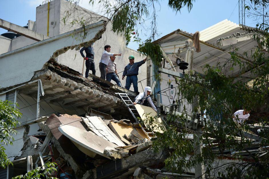 Así vivieron los famosos el terremoto de 7.1 en México