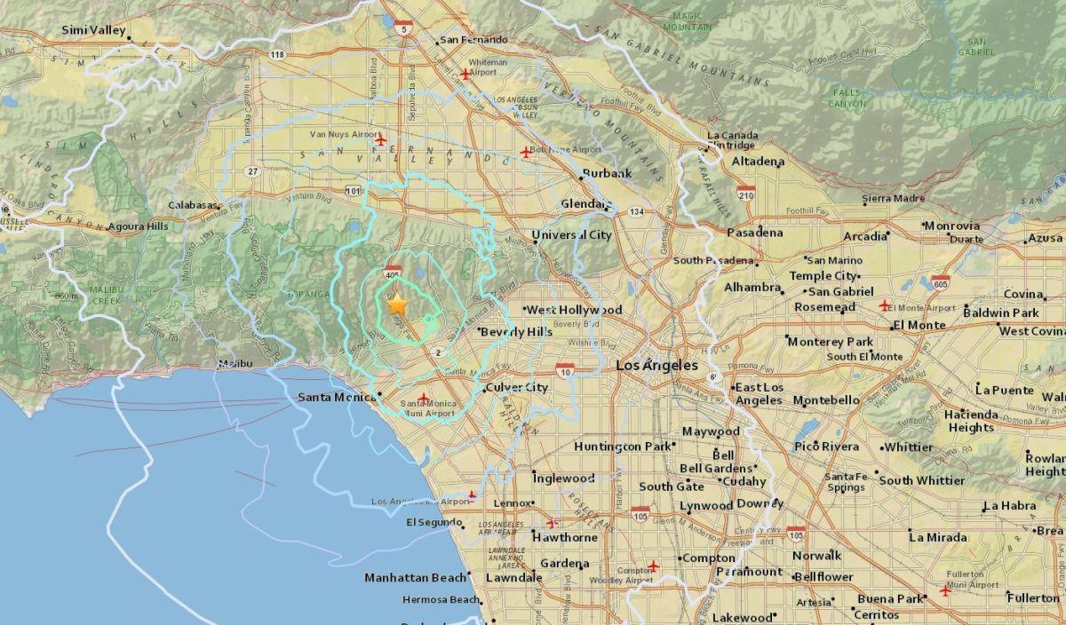 El mapa señala el epicentro del sismo, así como las zonas afectadas.