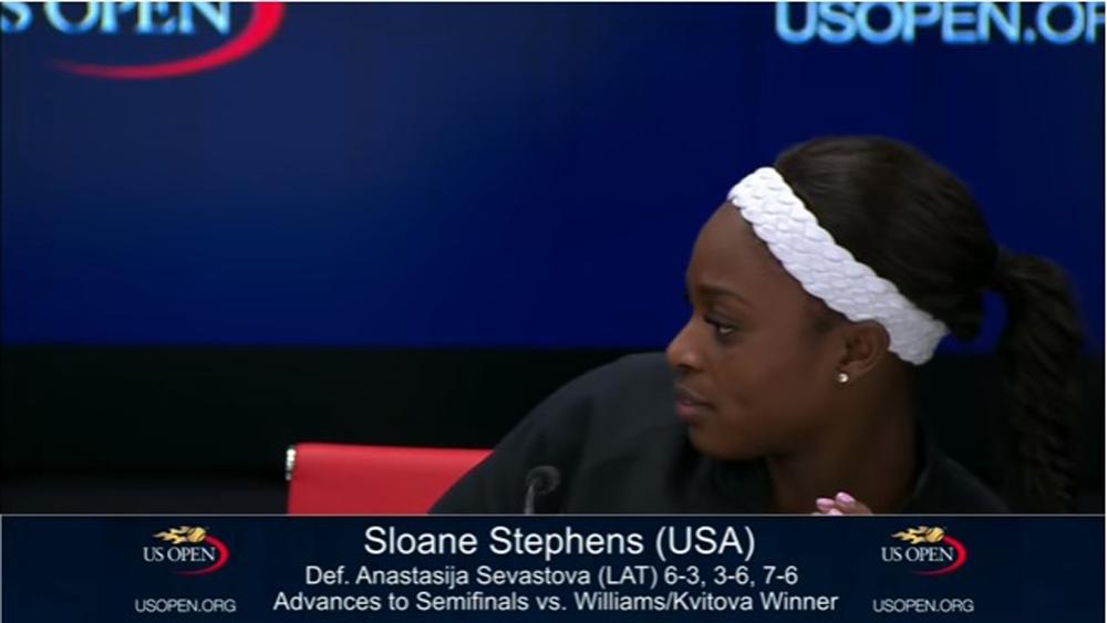 Video: Tenista que eliminó a Venus Williams en US Open entra en pánico con un insecto