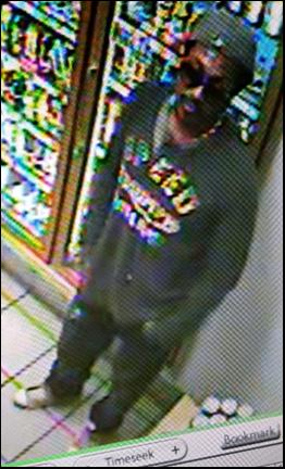 Imagen del sospechoso a través de una cámara de vigilancia
