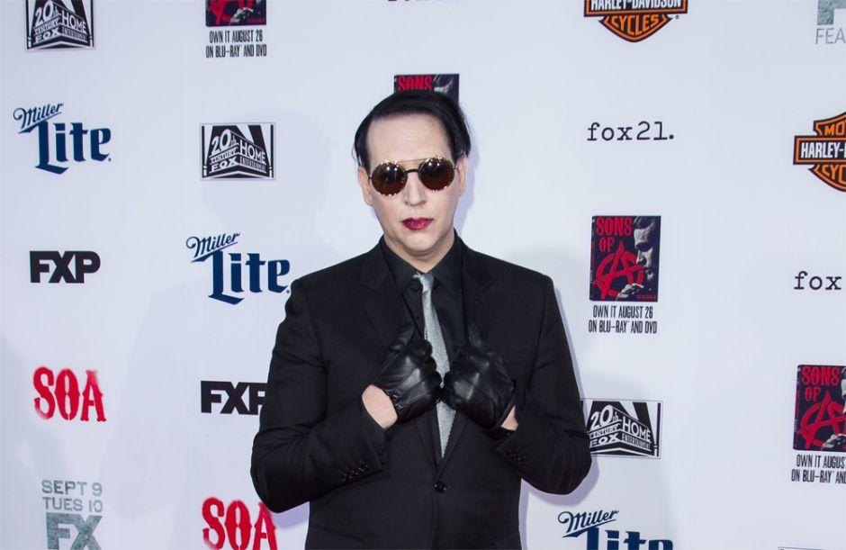 Marilyn Manson cancela conciertos tras el accidente que sufrió en NY