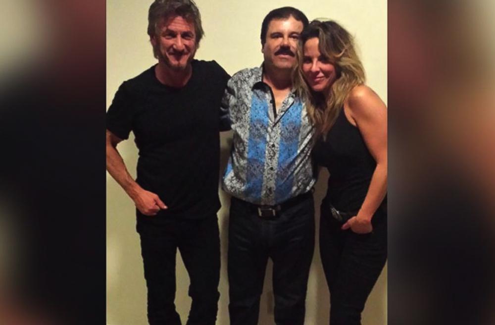 Sean Penn y Kate del Castillo en su encuentro con El Chapo Guzmán.