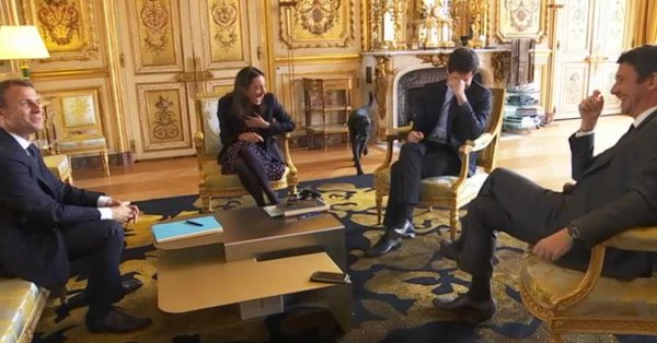 VIDEO: Nemo, la mascota del presidente francés se orina en plena reunión ministerial