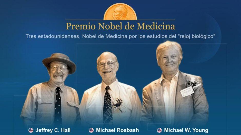 """Estadounidenses ganan Nobel de Medicina por estudios del """"reloj biológico"""""""