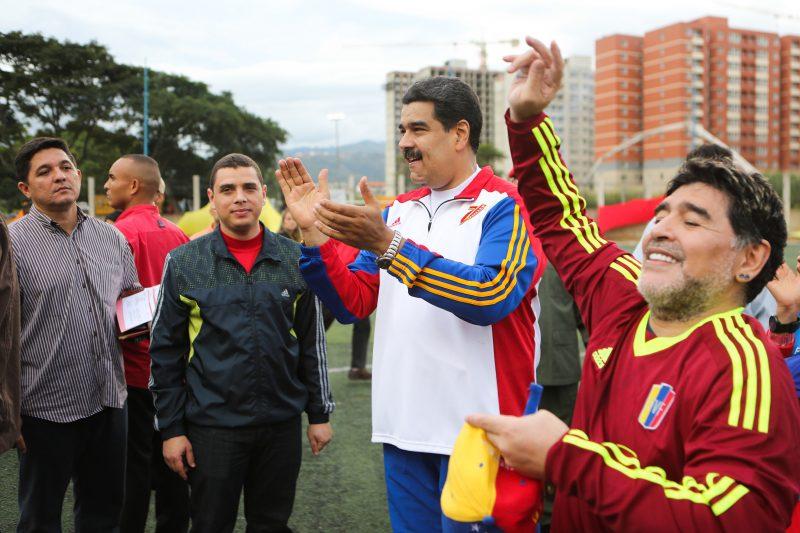 Maradona mostró su apoyo a Nicolás Maduro tras los acontecimientos en Venezuela