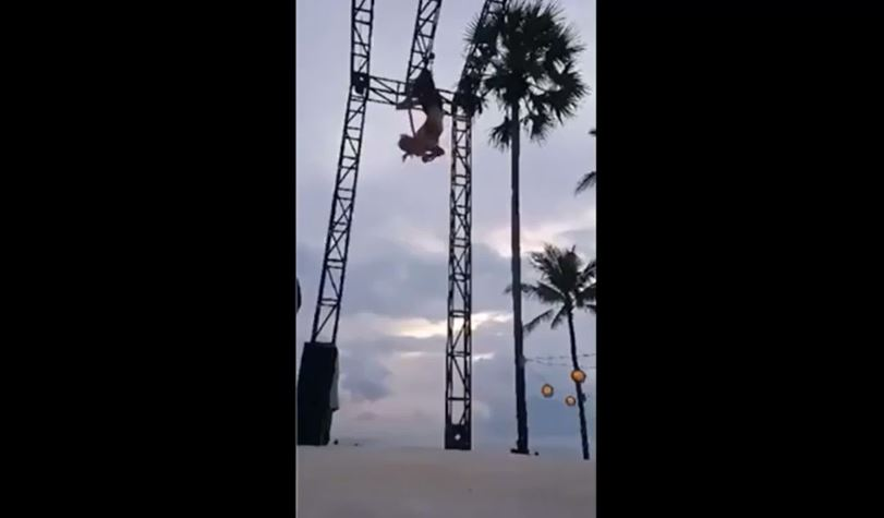 Sam Panda cayó de una altura de entre tres y cuatro metros.