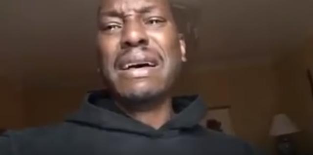 Video: Tyrese Gibson llora desconsolado porque no lo dejan ver a su hija