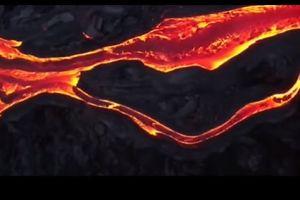 Dron capta los ríos de lava del volcán Kilauea (video)