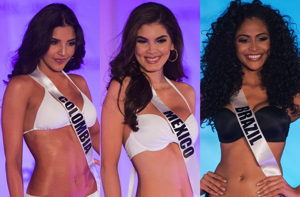 Las chicas de Miss Universo 2017 modelan en bikini.