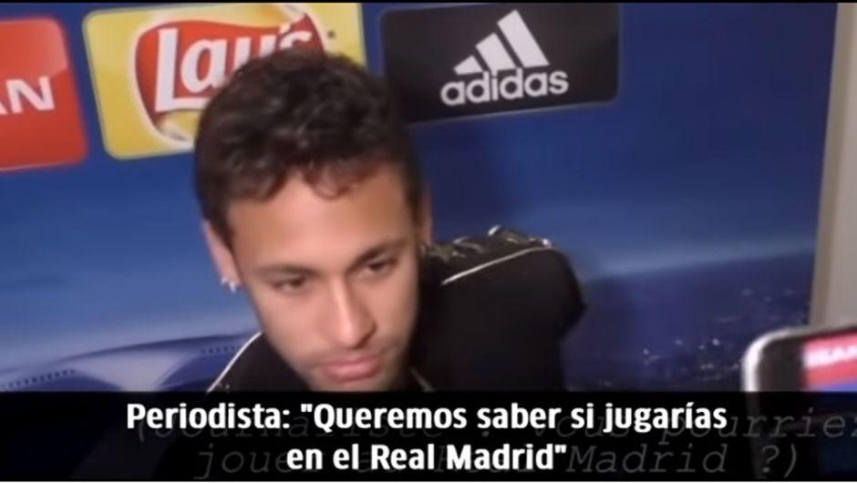 Video: Así reaccionó Neymar cuando le preguntaron por el Real Madrid