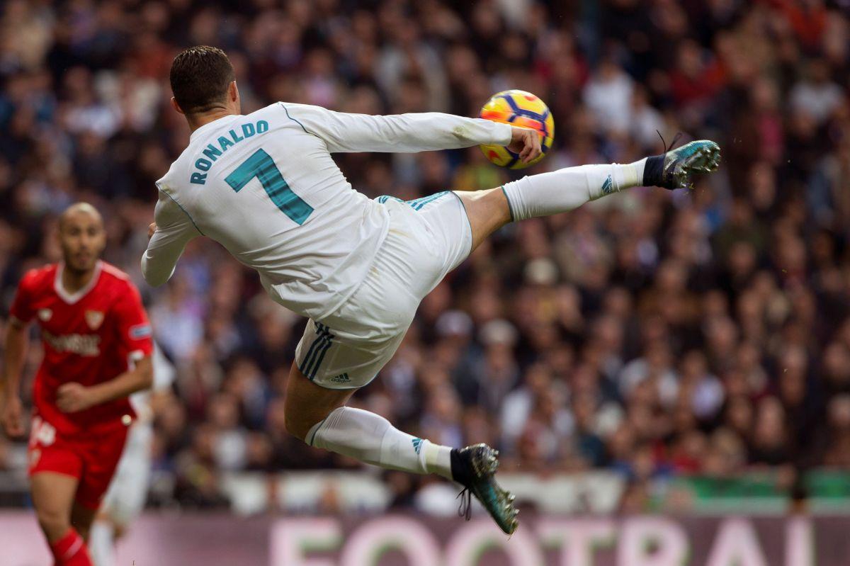 Cristiano Ronaldo hizo un doblete en la goleadadel Real Madrid sobre Sevilla