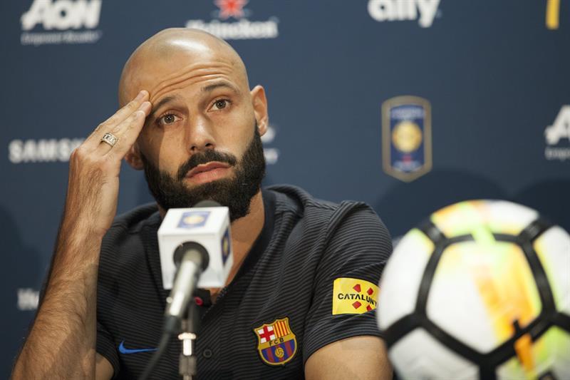 El defensa argentino del FC Barcelona Javier Mascherano podría ser traspasado al Hebei Fortune chino en los próximos días. (Foto: EFE)