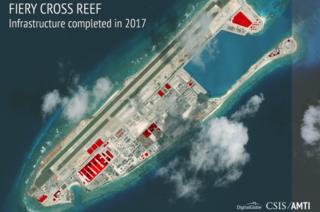 Fotos: Pekín construye en tiempo récord base militar en las islas del mar de China Meridional