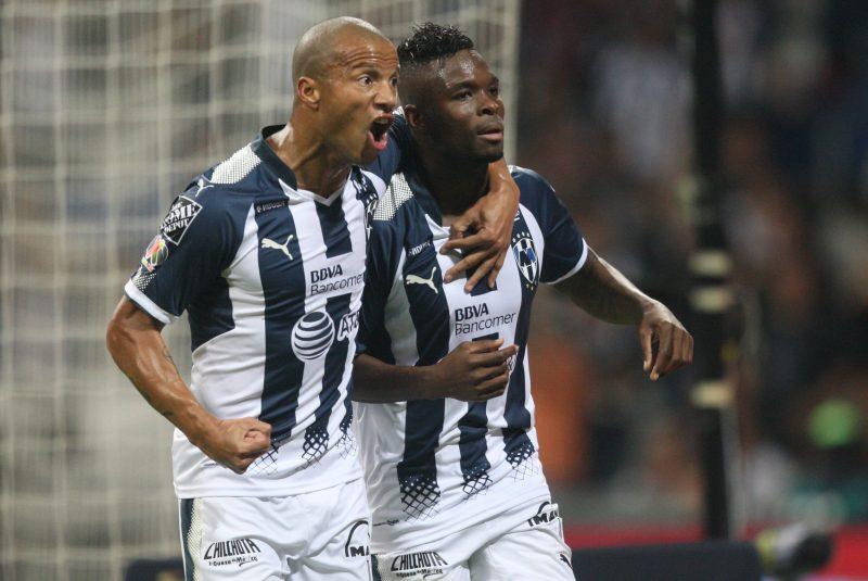 Carlos Sanchez y Aviles Hurtado festejan el gol de Rayados en la final de la Copa MX ante los Tuzos del Pachuca. Foto: Imago7