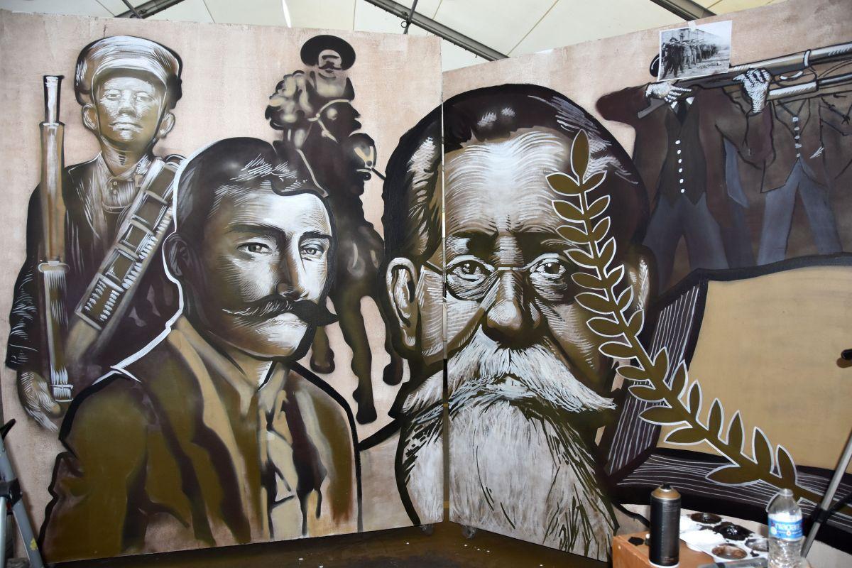 Consulado devela mural de revolucionarios mexicanos en Los Ángeles