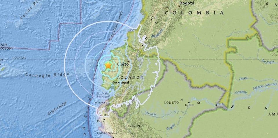 Las autoridades no emitieron alerta de tsunami./Twitter