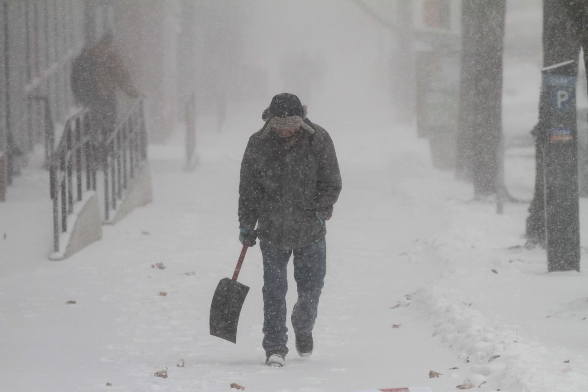"""El """"ciclón bomba"""" en la ciudad de Nueva York, donde el gobernador Cuomo declaró Estado de Emergencia."""