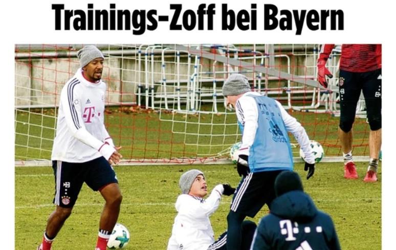 James Rodríguez, a punto de los golpes con un compañero del Bayern Munich