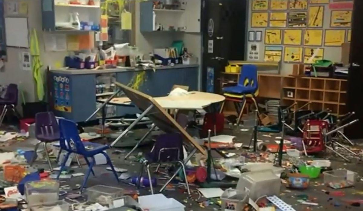 Sujetos irrumpen en escuela primaria de Pomona, destruyen aulas y roban iPads