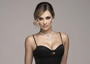Aracely Arámbula, la estrella de Telemundo, y su entallado vestido dorado
