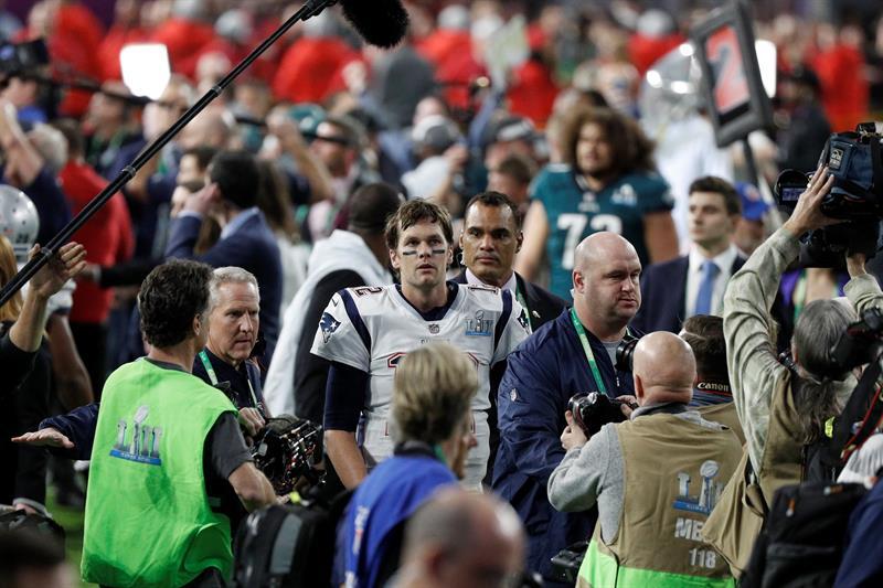 Tom Brady tuvo que enfrentar la derrota. EFE