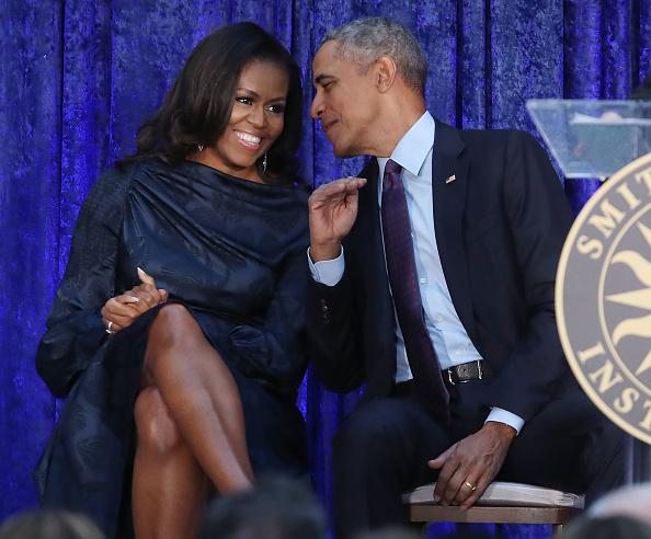 Barack Obama junto a su esposa Michelle.