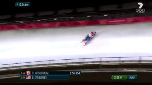 VIDEO: Atleta de EEUU sufre grave accidente en trineo en Pyeongchang