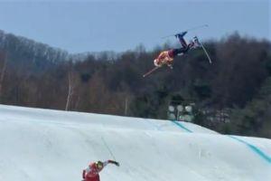 El horrendo vuelo y caída de Christopher Del Bosco en el Ski Cross de PyeongChang