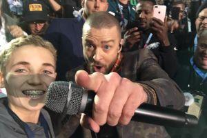 La selfie del niño con Justin Timberlake en el Super Bowl arrasa con los memes en Twitter
