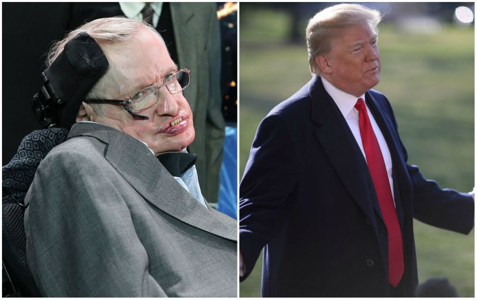 La importante advertencia que hizo Stephen Hawking sobre Donald Trump