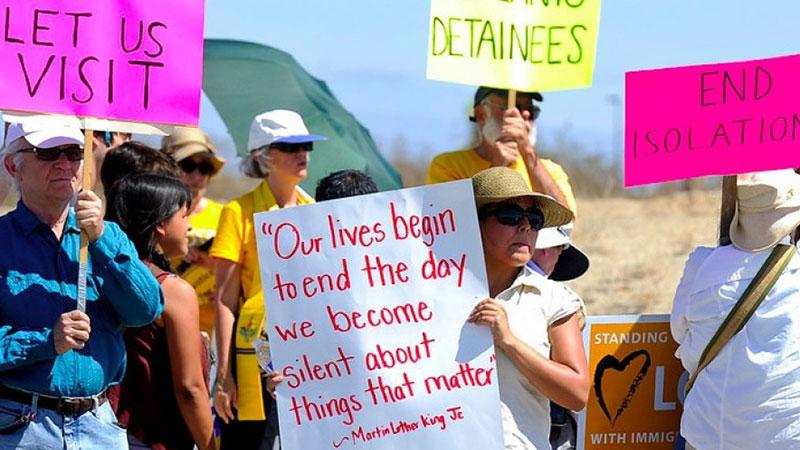 Prohíben entrada de activistas a centro de detención de California