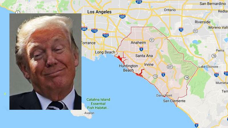 """Trump felicita al condado de Orange por estar contra leyes """"santuario"""" de California"""