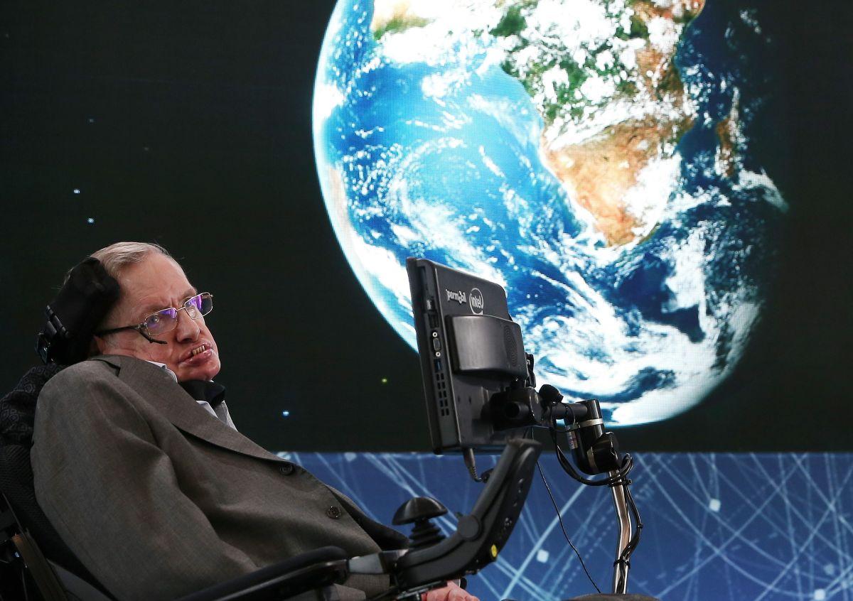 Stephen Hawking en Nueva York, el 12 de abril de 2016.
