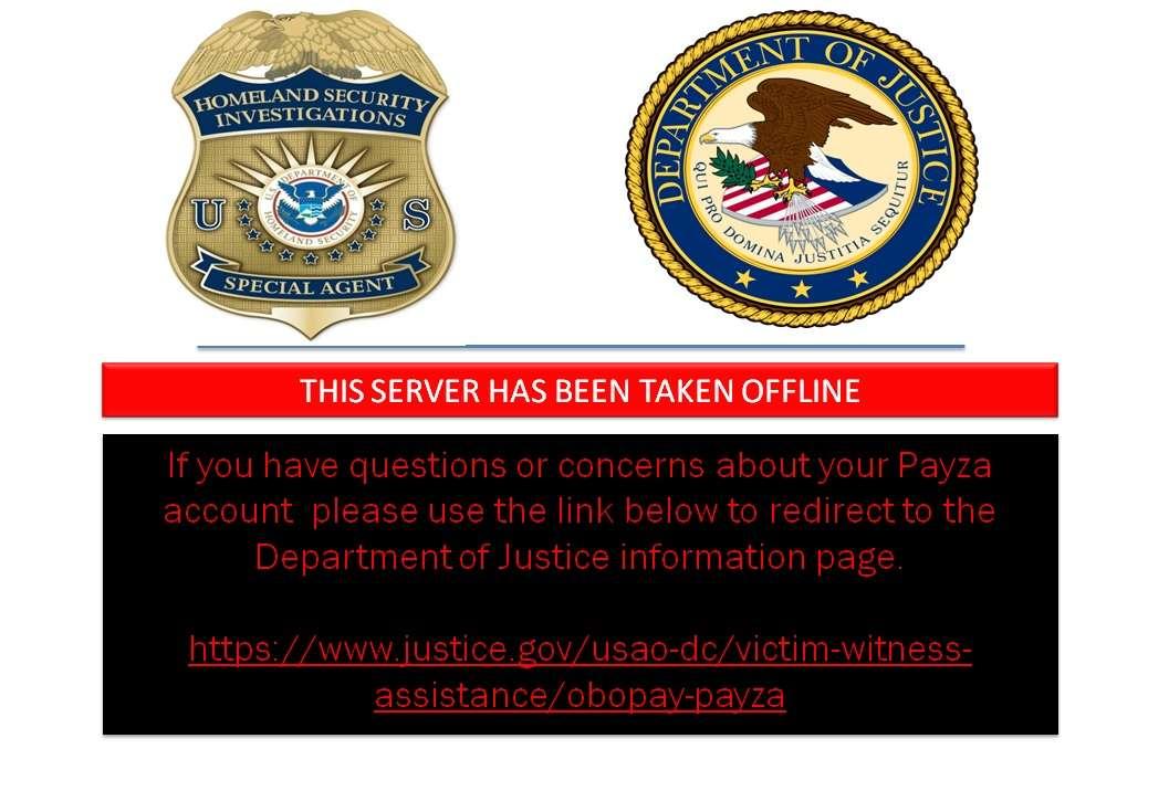 La página payza.com está bloqueada por el autoridades de EEUU.