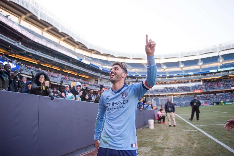 David Villa celebra con gol y victoria su partido 100 en la MLS