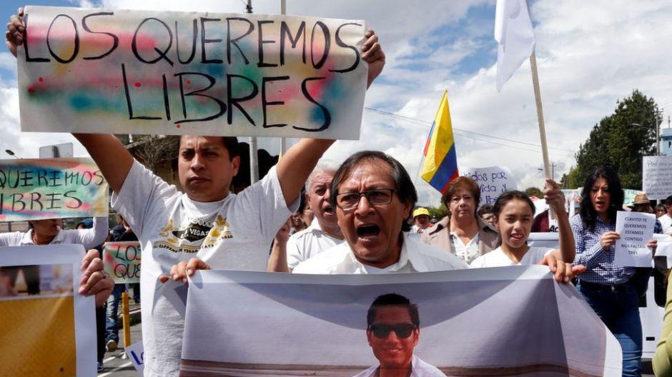"""""""Nunca nos habían matado así"""": Ecuador despierta tras la muerte del equipo de El Comercio"""
