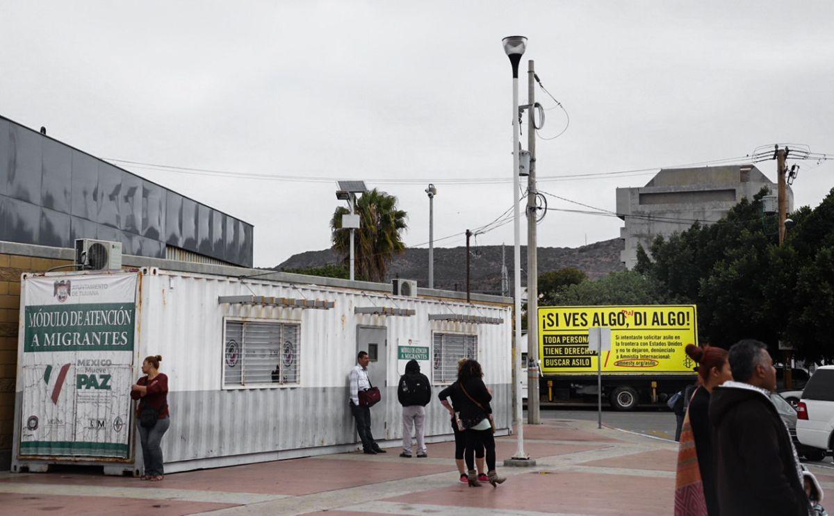 Un puesto de atención a migrantes en Tijuana, Baja California.