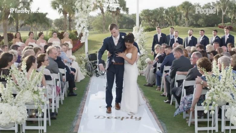 Novio paralítico consigue lo imposible el día de su boda
