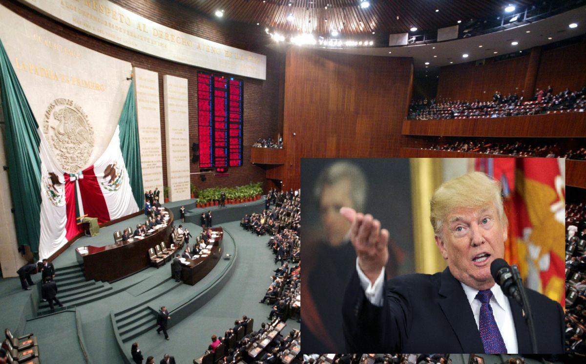 Senado de Mexico responde a Trump y pide suspender cooperación con EEUU en inmigración y seguridad