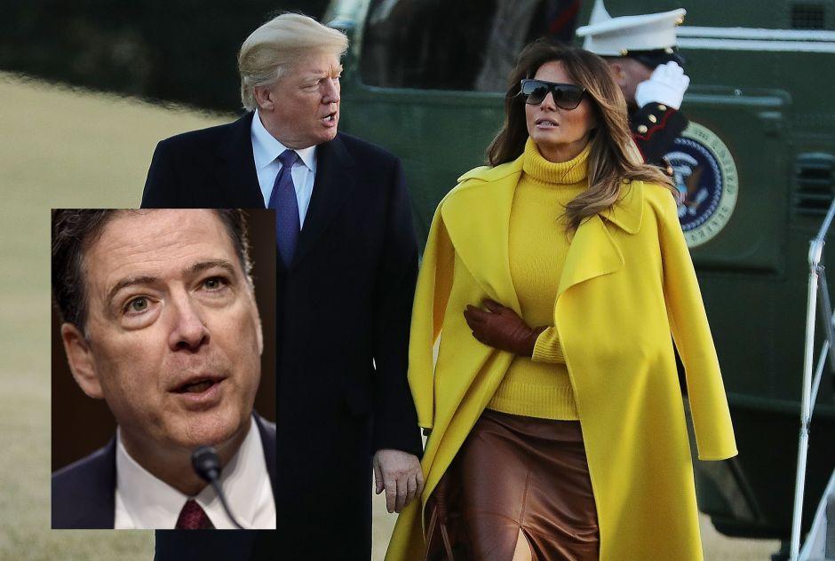 Trump le pidió a Comey que lo absolviera ante Melania en caso de prostitutas rusas