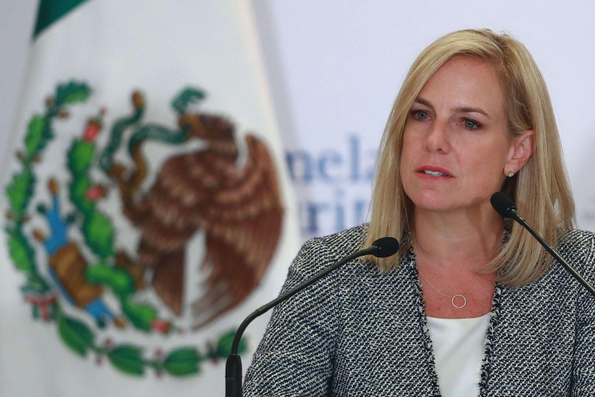 Kirstjen Nielsen visitó México hace dos semanas para la firma de tres acuerdos.